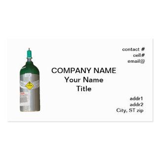 Medical oxygen cylinder pack of standard business cards