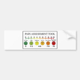 Medical Pain Assessment Tool Chart Bumper Sticker