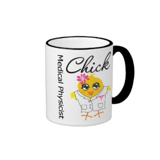 Medical Physicist Chick v2 Ringer Coffee Mug