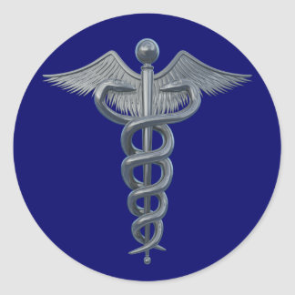 Medical Profession Symbol Round Sticker