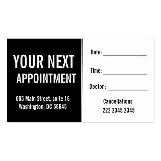 Medical Psysicians Hospital Patient Appointment Pack Of Standard Business Cards