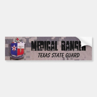 MEDICAL RANGER, TEXAS STATE GUARD ACU BUMPER STICKER