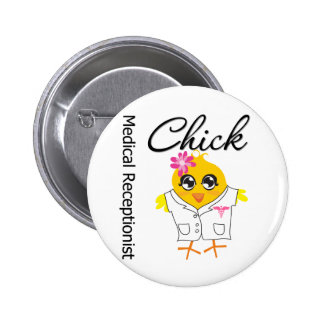 Medical Receptionist Chick 6 Cm Round Badge