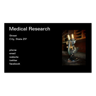 Medical Research Pack Of Standard Business Cards