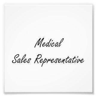 Medical Sales Representative Artistic Job Design Photo Art