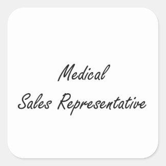 Medical Sales Representative Artistic Job Design Square Sticker