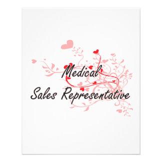 Medical Sales Representative Artistic Job Design w 11.5 Cm X 14 Cm Flyer