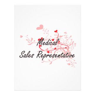Medical Sales Representative Artistic Job Design w 21.5 Cm X 28 Cm Flyer