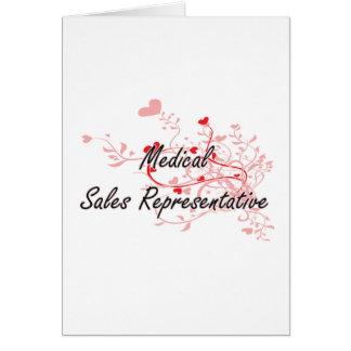 Medical Sales Representative Artistic Job Design w Greeting Card