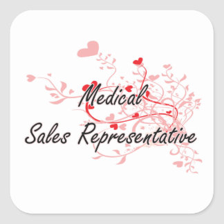 Medical Sales Representative Artistic Job Design w Square Sticker