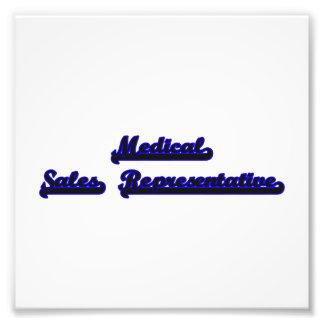 Medical Sales Representative Classic Job Design Art Photo