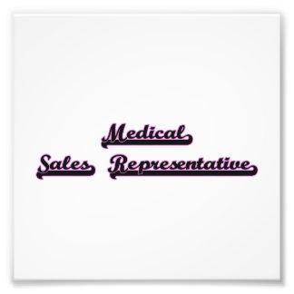 Medical Sales Representative Classic Job Design Photo Print