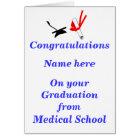 Medical School Graduation Congratulations Card