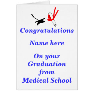 Medical School Graduation Congratulations Card