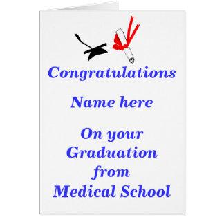 Medical School Graduation Congratulations Greeting Card