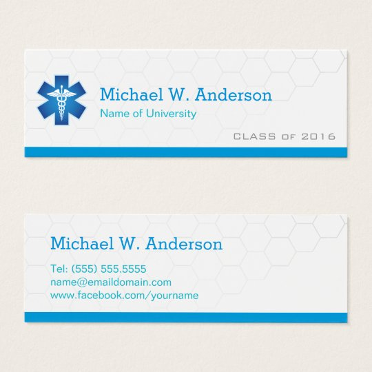 Medical School Student Graduation Name Card