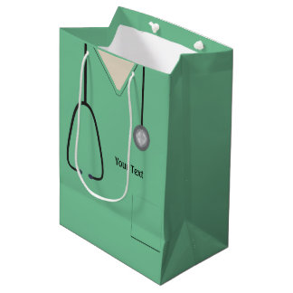 Medical Scrubs Doctor Nurse Lt Green Med Gift Bag