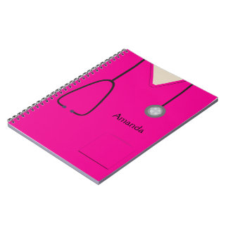 Medical Scrubs Hot Pink Notebook