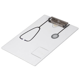 Medical Scrubs Nurse Doctor Steth White Clipboard