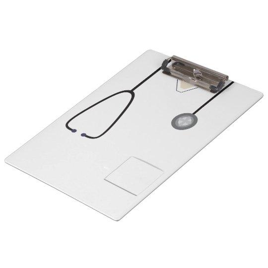 Medical Scrubs Nurse Doctor Steth White Clipboard