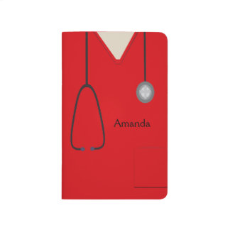 Medical Scrubs Red Pocket Jourmal Journal