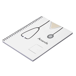 Medical Scrubs White Notebook