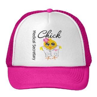 Medical Secretary Chick Trucker Hats