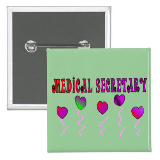 Medical Secretary Gifts 15 Cm Square Badge