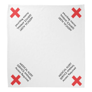 Medical Service Animal Assistance Dog Bandana