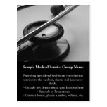 Medical Stethoscope, Black and White Post Cards