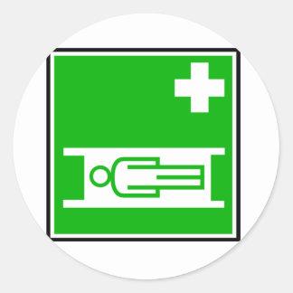 Medical Stretcher Sign Stickers Round Sticker