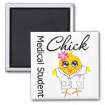 Medical Student Chick Square Magnet