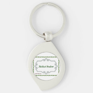 Medical Student - Classy Silver-Colored Swirl Key Ring