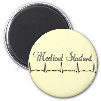 Medical Student QRS Design Gifts 6 Cm Round Magnet