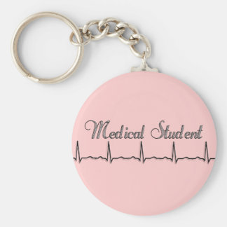 Medical Student QRS Design Gifts Basic Round Button Key Ring