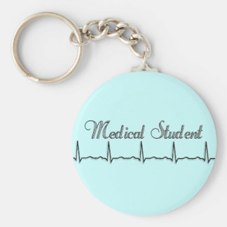 Medical Student QRS Design Gifts Key Ring