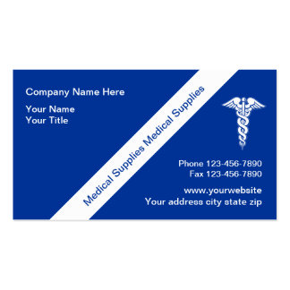Medical Supplies Business Cards