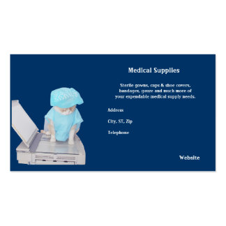 Medical Supplies Pack Of Standard Business Cards