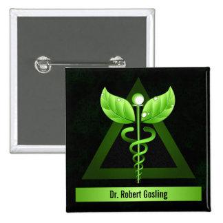 Medical Symbol Alternative Medicine Caduceus Badge