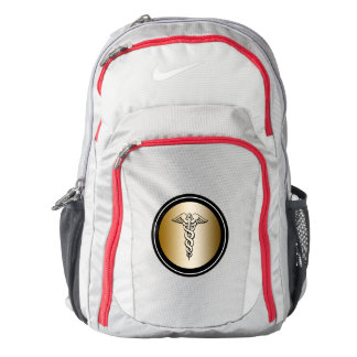 Medical Symbol Caduceus Nike Backpack for Nurses