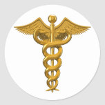Medical Symbol Round Sticker