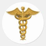 Medical Symbol Round Sticker