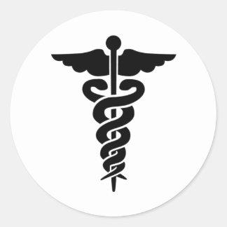 Medical Symbol Round Stickers