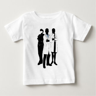 Medical team doctor silhouettes baby T-Shirt