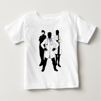 Medical Team Doctors and Nurses Group Silhouettes Baby T-Shirt
