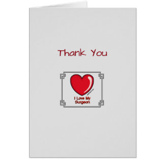 Medical Thank You Surgeon Card