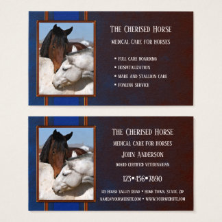 Horse trainer business cards business card printing for Horse trainer business cards