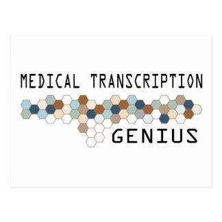 Medical Transcription Genius Postcard