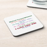 Medical Transcription I Love This Job Beverage Coaster