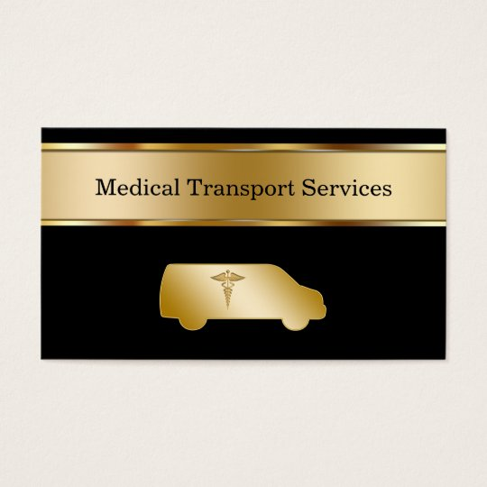 Medical Transport Business Cards